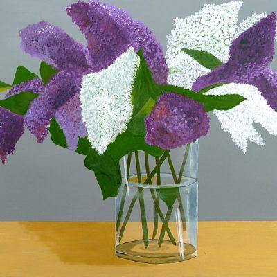 Flieder mit Vase, 2016, 80x60cm