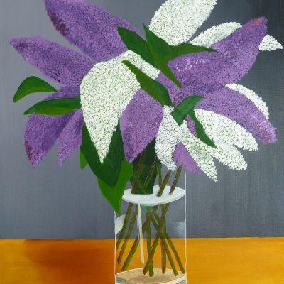 Sommerflieder mit Vase, 2017, 80x60cm