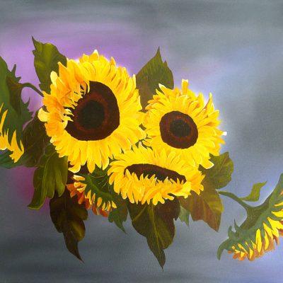 Sonnenblumenstrauss, 2014, 80x60cm