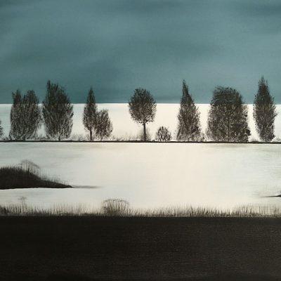 Abendstimmung am See, 2014, 80x60cm