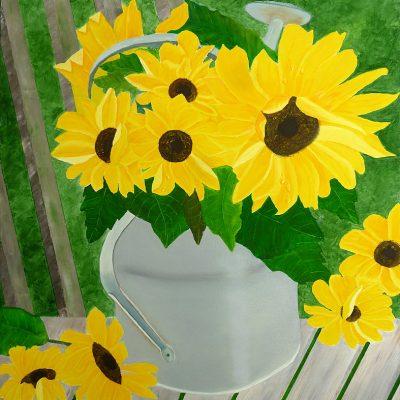 Sonnenblume mit Kanne, 2016, 80x60cm