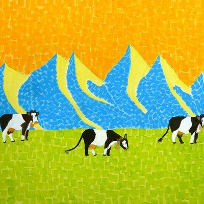 Bergfantasien, 2014, 40x30cm