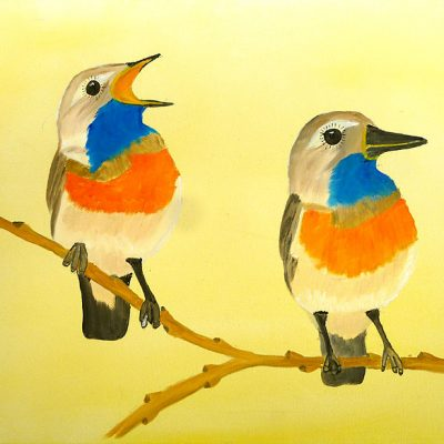 Zwei kleine Vögel, 2014, 40x30cm