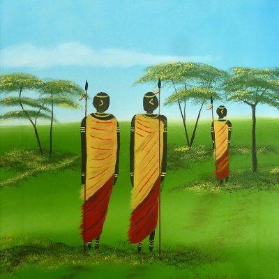 Drei Krieger, 2014, 30x40cm