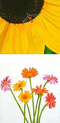 Blumenleiter mit Sonnenblume, 2016, 20x90cm