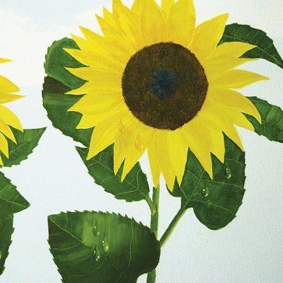 Sonnenblume im Regen - Detail