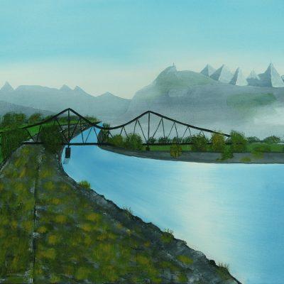 Alte Rheinbrücke, 2012, 60x45cm