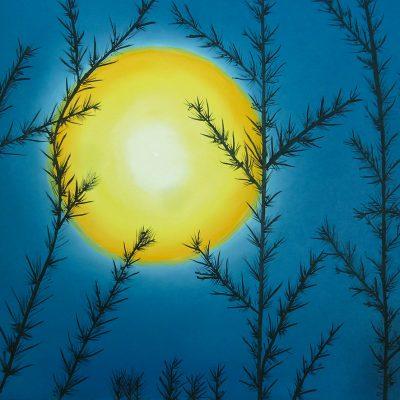 Mond im Geäst, 2013, 50x40cm