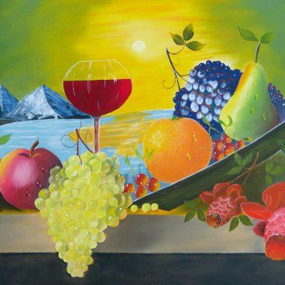 Stillleben mit Früchten, 2015, 80x60cm