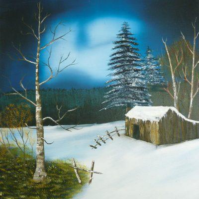 Winterlandschaft mit Hütte, 2013, 40x50cm