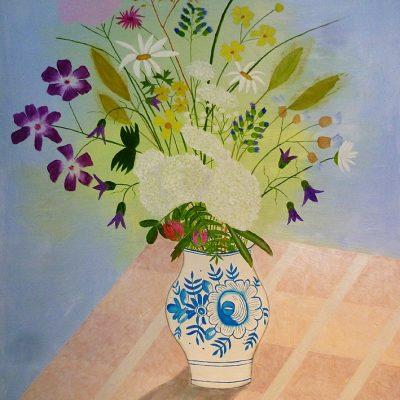 Vase mit Wiesenblumen, 2017, 60x80cm